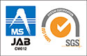 JAB EMS Accreditation RE007 / SGS SYSTEM CERTIFICATION ISO 14001:2004